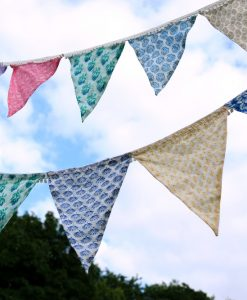 Bunting patchwork in one size